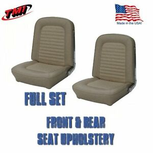 1966 Mustang Coupe Front And Rear Seat Upholstery Parchment By Tmi