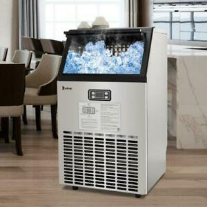 Built in 100lbs 30kg Stainless Steel Commercial Ice Maker Machine Restaurant Bar
