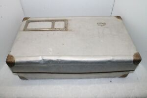 Vintage 1930s 40s Aluminum Shipping Postal Mailing Container Photo Postcard Box