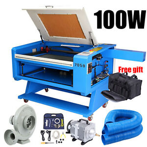 100w Co2 Usb Cutter Laser Engraving Cutting Machine 700x500mm 18 Tool Bag