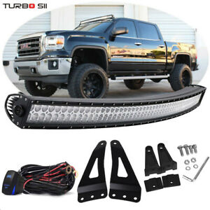 50 Curved Led Light Bar upper Roof Bracket For Chevy Silverado 1500 2500 3500