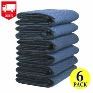 6 Moving Blankets Deluxe Pro 45lb Per Dozen Quilted Shipping Furniture Pads