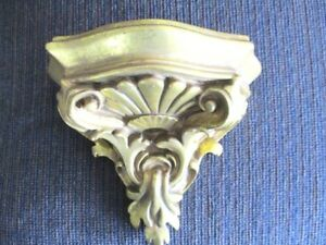 Mini Gold Carved Embossed Tole Design Italian Florentine Wood Wall Shelf
