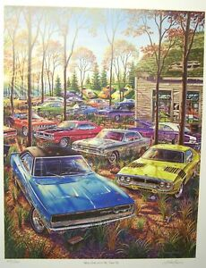 Dodge Plymouth Sold Out Farm Art Charger Super Bee Dart 1968 1969 1971 440 Hemi