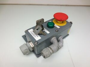 3 Pushbutton Control Panel Box Telemecanique Zb2 be102 Z bv6 Elfin