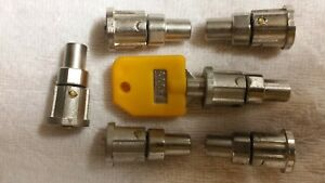 6 Locks 1 Yellow Key T 003 For 1 800 Vending Machine 1800 Candy Machines