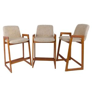 Danish Modern Tarm Stole Bar Stools Set Of 3