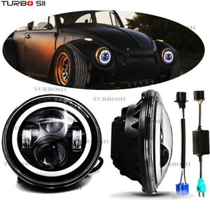 Fit Volkswagen Vw Beetle Classic Dot 7 Inch Led Round Headlight Hi Low Cree Beam