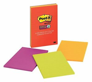 10 Pack Lot Of Post it Super Sticky Notes 4 In X 6 In Marrakesh Collection