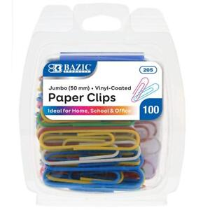 Bazic Jumbo Color Paper Clips 50 Mm 100 Per Pack 205 Aoi