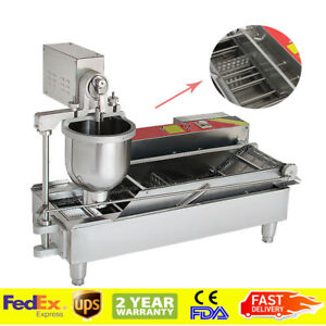1000pc h Commercial Automatic Electric Donut Making Machine Donut Fryer 3 Outlet