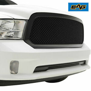 Eag Ram Upper Replacement Grille For 13 18 Dodge Ram 1500 Front Hood Grill