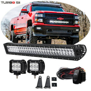 Dot 30 32inch Led Light Bar W Wirings Kit For 14 15 Chevy Silverado 1500 Grille