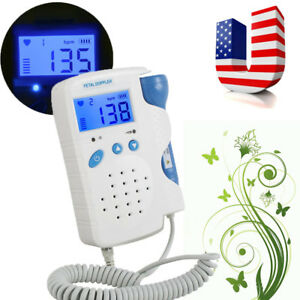 usa fetal Doppler Lcd Display Baby Heart Beat Monitor 3mhz Probe Rate Detector