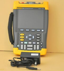 Fluke 196c Digital Color Scopemeter Oscilloscope 100 Mhz 1gs s