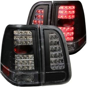 Fits 03 06 Lincoln Navigator Tail Lights Left Right Pair W Clear Lens Black