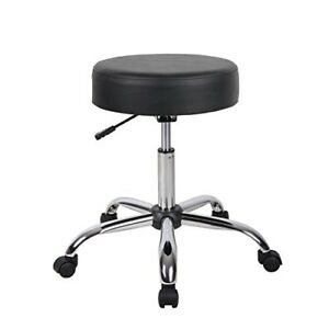 Boss Office Home Adjustable Medical Spa Rolling Stool Black Exam Chair Seat