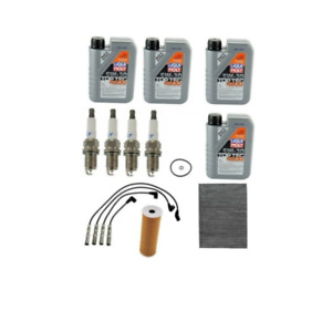 Volkswagen Golf Jetta Beetle Air Oil Cabin Filter Spark Plugs Wires Tune Up Kit