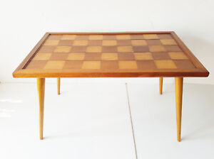 Coffee Table Rectangular A Checkerboard 1950 Vintage Rockabilly 50s 50 S