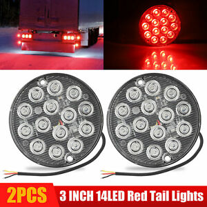 5x Amber 5x Red Led Car Truck Trailer Rv Oval 2 5 Side Clearance Marker Lights