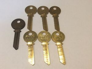 Star And Curtis Brand Yale Key Blanks Set Of 7 Y498 Locksmitha