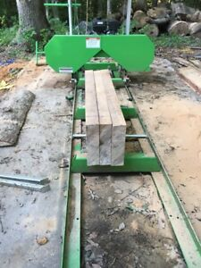 Saw Mill Sawmill Bandmill Portable 301cc Gas Engine Cuts 20 In Vertical Horizont
