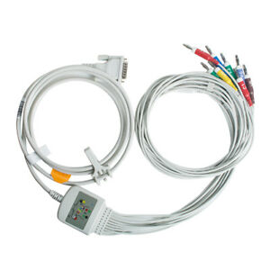 Top 10 lead 15 pins Ecg Ekg Cable Banana 4 0 Fit For Schiller Medical Use Fda Ce