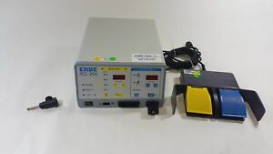 Erbe Icc 200 Electrosurgical Unit Esu 10128 204 W 20189 027 Foot Switch