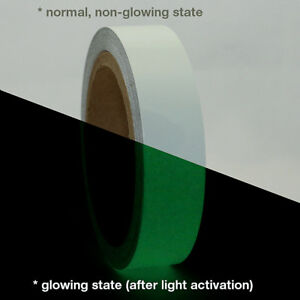 Jvcc Glw Glow In The Dark Tape 1 In X 30 Ft luminescent Lime Green