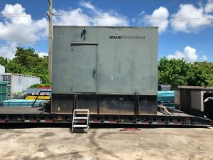 375 Kw Kohler Detroit Diesel Generator 3 Phase Enclosed Ready To Work
