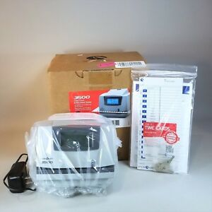 Brand New Pyramid 3500 Multi purpose Time Clock And Document Stamp
