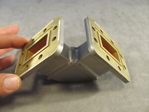 Waveguide Wr159 F band Cast H bend a 2 50 x b 2 50 Cprg Both Ends 245