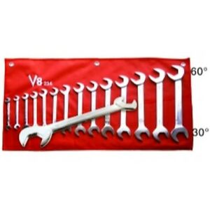14 Piece Angle Head Wrench Set 3 8 1 1 4 V8t214 Brand New