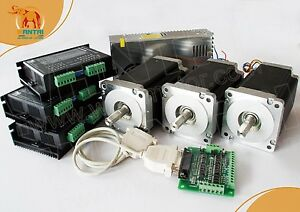 usa Ship 3 Axis Nema 34 Stepper Motor 1090oz in 5 6a Cnc Mill engraver Cutter