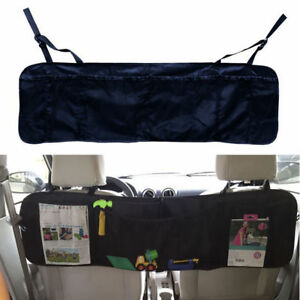 Auto Car Seat Back Storage Organizer Interior Multi Pocket Bag Accessory Black