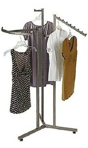 Clothes Rack Four Way 3 Clothing Garment Retail Display 72