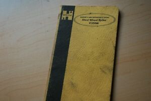 Hyster C350a Steel Wheel Roller Compactor Owner Operator Parts Manual Book Guide