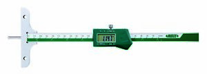 Insize Electronic Digital Depth Gauge W Round Depth Bar 0 4 7 0 120mm 1148 1