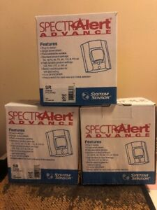 Lot Of Three Spectralert System Sensor Fire Alarm Strobe Red Brand New
