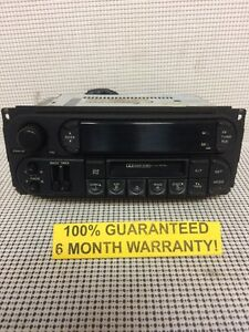 Warranty 02 10 Jeep Dodge Chrysler Cassette Player Radio P05064335ai