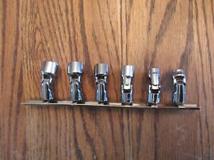 Snap On 106tmusa 6 Piece 6 Point 1 4 Sae Swivel Flex Socket Set 1 4 To 9 16