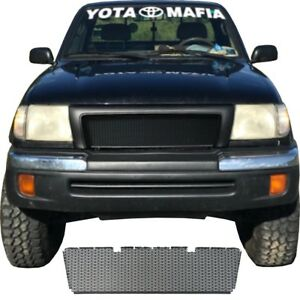 Ccg Flat Black Perf Ss Precut Mesh Grill For A 1998 2000 Toyota Tacoma Grille