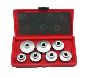 Oil Filter Cap Wrench Metric 7 piece Socket Tool Kit 24mm 38mm Bmw Mercedes Vw
