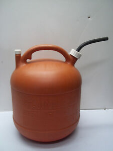 Vintage Eagle 5 Gallon Gal Plastic Vented Gas Can W nozzle Spout Pg 5