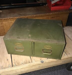 Vintage 2 Drawer Cabinet By Pronto File Corp Ny card digest Cal Law