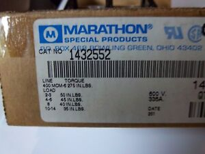 Marathon 1432552 Power Distribution Block 380a 600v 3 Poles