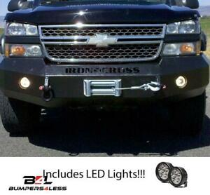 Iron Cross Automotive 20 525 03hd Frt Winch Bumper W leds For 03 06 Chevy 2500