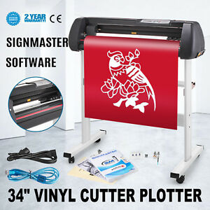 34 Vinyl Cutting Plotter Sign Cutter Wide Format With Stand Sign Maker Updated