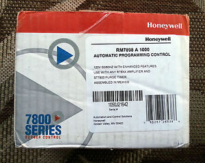 New Honeywell Rm7898 A 1000 Automatic Programming Control Burner Flame Safeguard