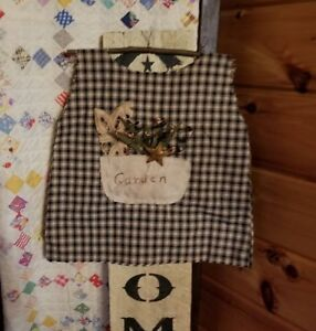 Primitive Girls Dress Friends Rusty Star Farmhouse Decor Country Rustic Handmade